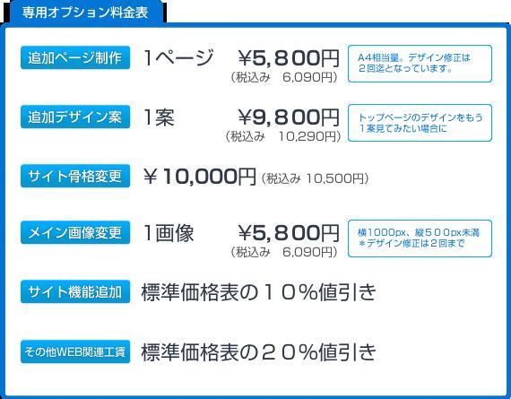 専用オプション価格表